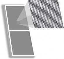 Москитная сетка Стандарт на окно 730×1410 мм