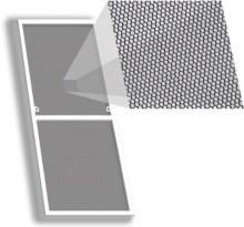 Москитная сетка Антикошка на окно 355×1245 мм