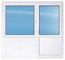 Балконный блок REHAU 1910×2200 мм производство пластиковых окон