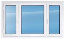 Пластиковое окно REHAU 1700×2400 мм трёхстворчатое производство пластиковых окон