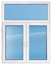 Пластиковое окно REHAU 2100×1500 мм с глухим верхом производство пластиковых око
