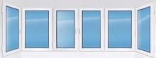 Остекление балкона «тёплое» пластиковое 4600×1550 мм цена: 30245 р