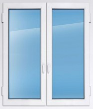 Пластиковое окно KBE эксперт 1700×1750 мм