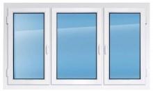 Пластиковое окно KBE эксперт 1450×1750 мм Все створки открываются