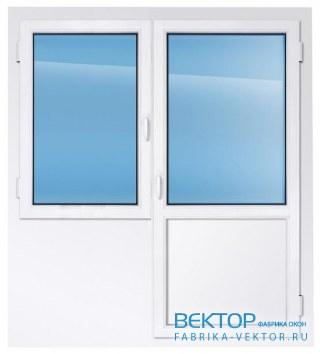 Балконный блок REHAU 1600×2150 мм производство пластиковых окон