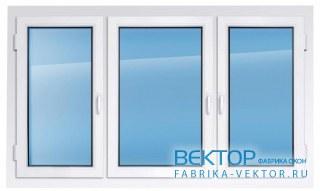 Пластиковое окно REHAU 2100×2300 мм все створки открываются