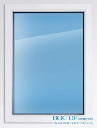 Пластиковое окно KBE эксперт 1300×900 мм глухое