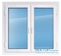 Пластиковое окно REHAU 1400×1400 мм производство пластиковых окон
