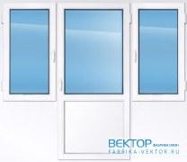 Балконный блок REHAU 2550×2000 мм производство пластиковых окон