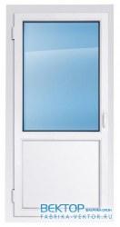 Дверь пластиковая одностворчатая 2100×900 мм