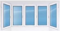 Пластиковое окно REHAU с двумя эркерами 3100×1400 мм производство пластиковых ок