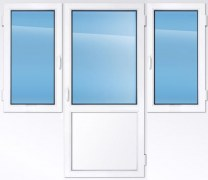 Балконный блок  KBE эксперт 2550×2000 мм