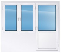 Балконный блок KBE эксперт 2300×2300 мм