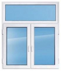 Пластиковое окно KBE эксперт 1800×1500 мм с глухим верхом